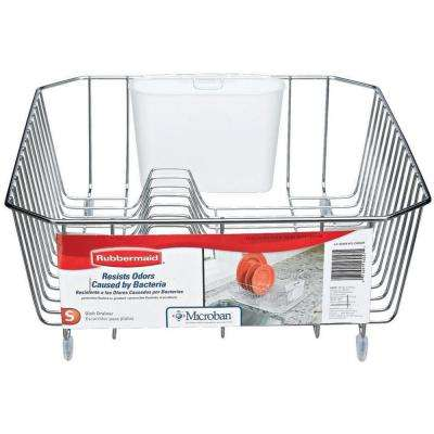 Small Chrome Antimicrobial Dish Drainer