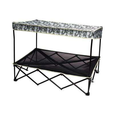 30 in. x 42 in. Large Digital Camo Instant Pet Shade with Mesh Bed