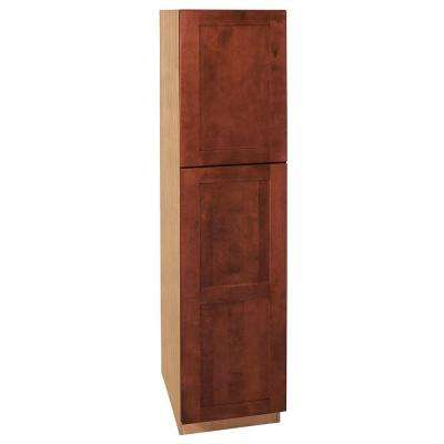 18x84x21 in. Kingsbridge Assembled Vanity Linen Cabinet with Doors Hinged Right in Cabernet