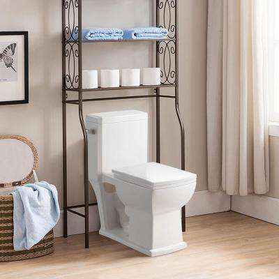 1-piece 1.28/1.6 GPF Single Flush High-Efficiency Ceramic Elongated Toilet in Comfort Height