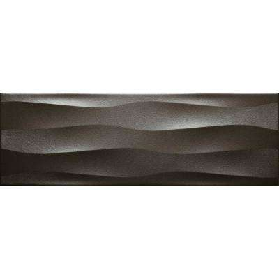 Artwork Metal Wave 11.81 in. x 35.43 in. Ceramic Wall Tile (11.6252 sq. ft. / case)
