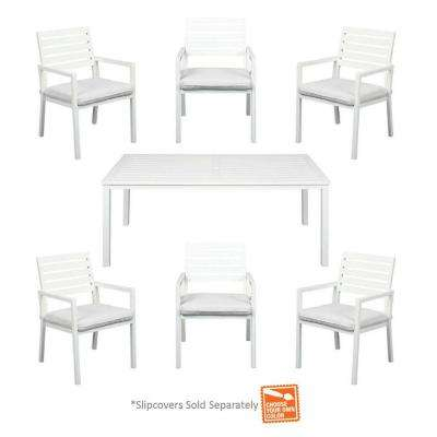 Blue Springs 7-Piece Patio Dining Set with Cushion Insert (Slipcovers Sold Separately)