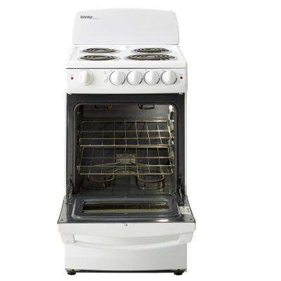 20 in. 2.4 cu. ft. Single Oven Electric Range with Manual Clean in White
