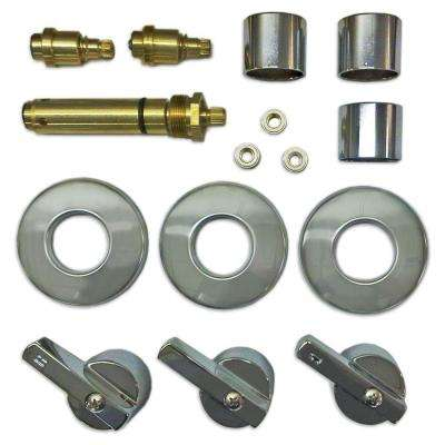 3 Valve Rebuild Kit for Tub and Shower with Chrome Handles for American Standard