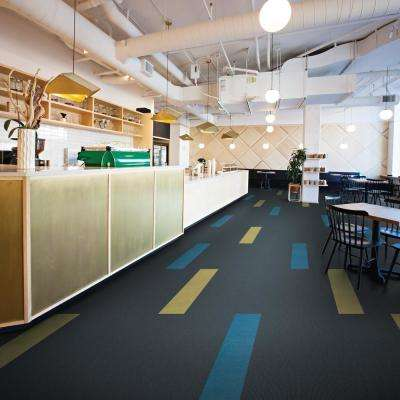 Peel and Stick Platinum Accent Planks 9 in. x 36 in. Commercial/Residential Carpet (8-tile / case)