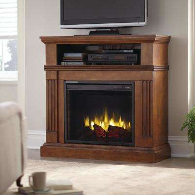 Dorsett 40 in. Freestanding Electric Fireplace TV Stand in Heritage Walnut