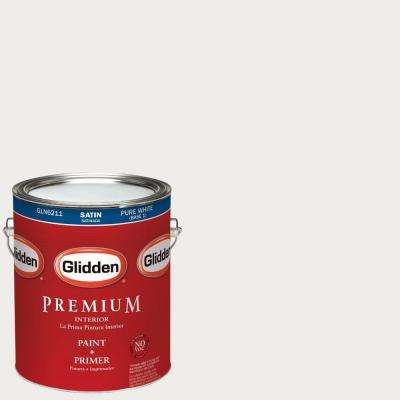 1-gal. #HDGWN56 Swan White Satin Latex Interior Paint with Primer