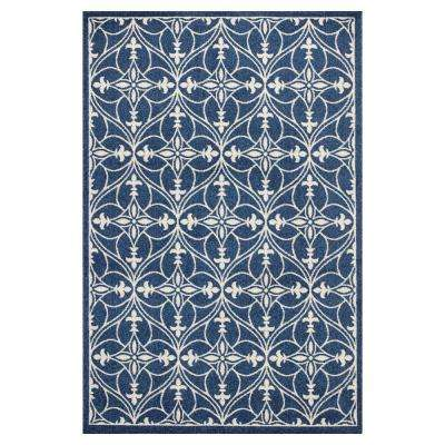 Palmetto Blue 7 ft. 7 in. x 10 ft. 10 in. All-Weather Area Rug