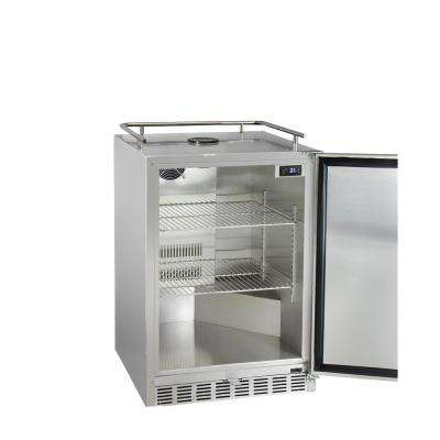 Digital Outdoor Undercounter Full Size Beer Keg Dispenser with X-CLUSIVE Triple Tap Premium Direct Draw Kit