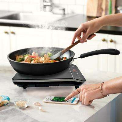 11.5 in. Portable Induction Cooktop in Black with 1-Element Including Rapid Heating