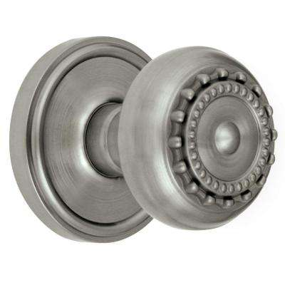 Georgetown Rosette Satin Nickel with Double Dummy Parthenon Knob
