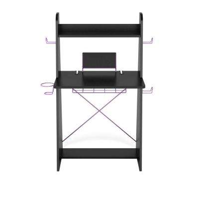 Ladder Desk in Black With Purple Edging-DISCONTINUED
