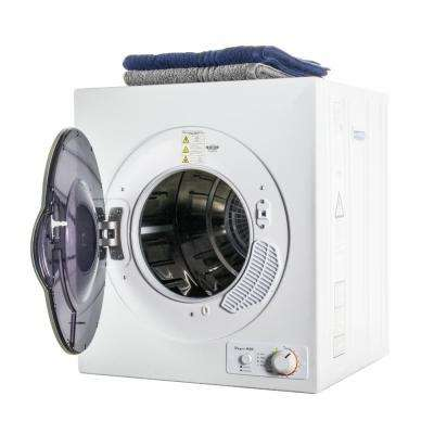 3.5 cu. ft. White Electric Dryer with Stainless Steel Drum