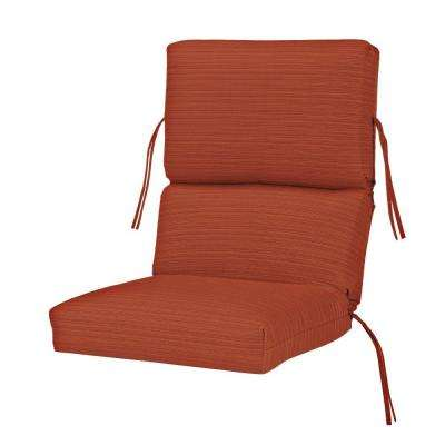 Sunbrella Papaya Outdoor Dining Chair Cushion