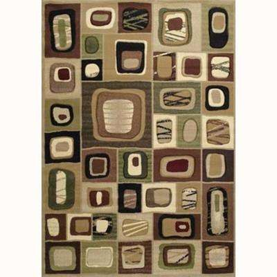 Marrakesh Toffee 5 ft. 3 in. x 7 ft. 6 in. Contemporary Area Rug