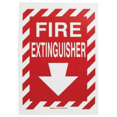 14 in. x 10 in. Polyester Fire Extinguisher with Arrow Sign