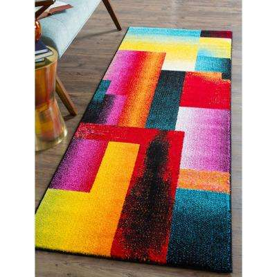 Symphony Multi 3 ft. x 7 ft. Contemporary Runner Rug