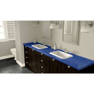 2 in. x 3 in. Laminate Countertop Sample in Lapis Blue with Standard Matte Finish