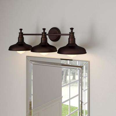 Kimball 3-Light Textured Coffee Bronze Indoor Vanity Light