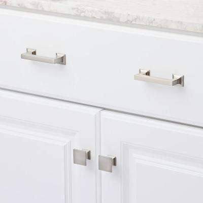 1-1/4 in. SQ Studio Collection Satin Nickel Cabinet Knob