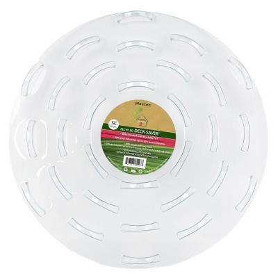 12 in. Deck Saver Recycled Plastic Saucer