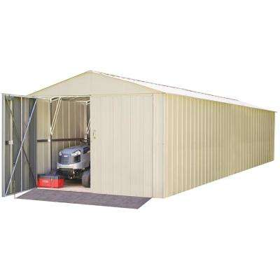 Commander 10 ft. W x 30 ft. D White Hot-Dipped Galvanized Metal Storage Shed