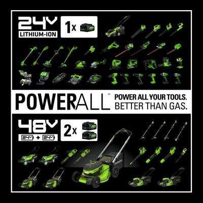 90 MPH/180 CFM 24-Volt Battery Shop Blower, Battery Not Included SBL24B00