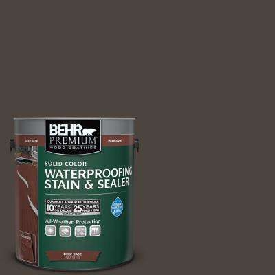 1 gal. #PPU5-1 Espresso Beans Solid Waterproofing Stain and Sealer