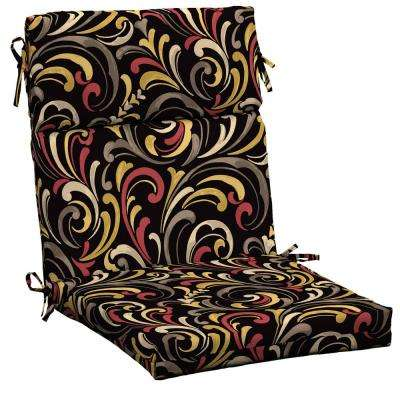 Hawthorne Scroll Outdoor Dining Chair Cushion