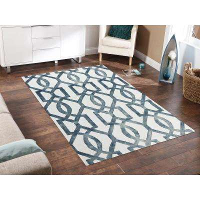 Shiloh Sapphire 7 ft. 6 in. x 9 ft. 6 in. Rectangle Area Rug
