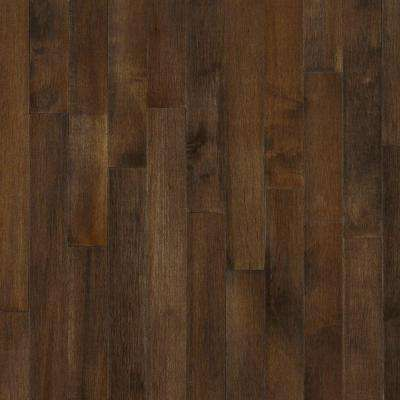 Maple Cappuccino 3/4 in. Thick x 2-1/4 in. Wide x Random Length Solid Hardwood Flooring (20 sq. ft. / case)