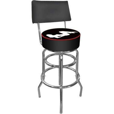 Shadow Babes A Series 30 in. Chrome Swivel Cushioned Bar Stool