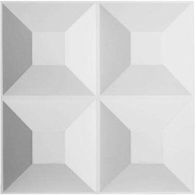1-5/8 in. x 19-5/8 in. x 19-5/8 in. PVC White Foster EnduraWall Decorative 3D Wall Panel