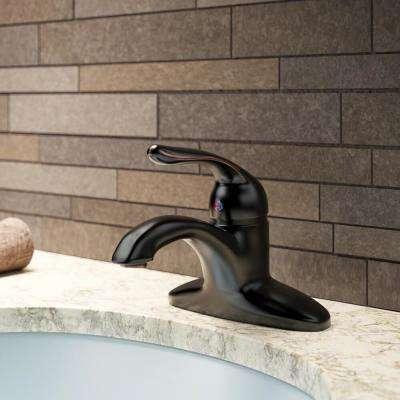 4 in. Centerset Single-Handle Bathroom Faucet in Antique Bronze