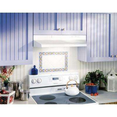 42000 Series 36 in. Under Cabinet Range Hood with Light and Damper in White
