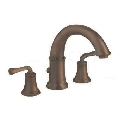 Portsmouth 2-Handle Deck-Mount Roman Tub Faucet, Less Personal Shower, Lever Handles in Oil Rubbed Bronze