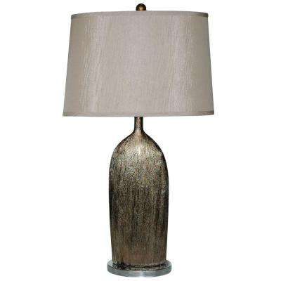 32.5 in. Gold and Silver Ceramic Table Lamp-DISCONTINUED