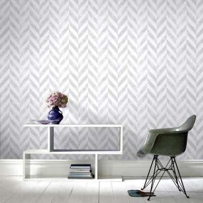 Symmetry Italie Silver Removable Wallpaper