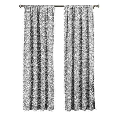 Valencia Printed Cotton Rod Pocket Extra Wide Curtain Panel, 52 in. W x 84 in. L (1 Pair)