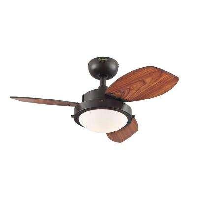 Wengue 30 in. Indoor Espresso Ceiling Fan
