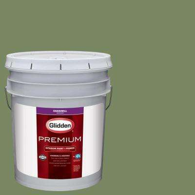 5 gal. #HDGG34D Pasture Green Eggshell Interior Paint with Primer