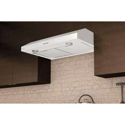Slim SDW330 30 in. Under-Cabinet Range Hood in White