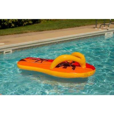 Tropical Flip Flop 71 in. Inflatable Pool Float