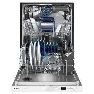 24 in. Top Control Built-in Tall Tub Dishwasher in White with Dual Power Filtration, ENERGY STAR