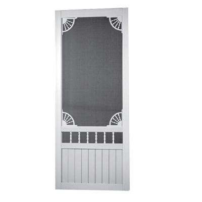 Laurel Bay Solid Vinyl White Screen Door