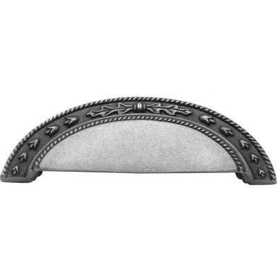 Chartres 3 in. Satin Pewter Antique Cup Pull