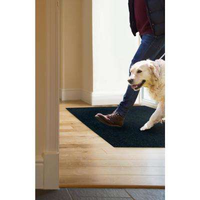 Peel and Stick Modular Mat Wide Wale Rib Ash 18 in. x 18 in. Indoor/Outdoor Carpet (10 Tiles/Case)