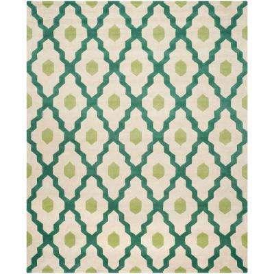 Chatham Ivory/Teal 8 ft. x 10 ft. Area Rug