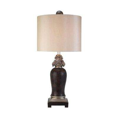 34 in. Antique Brass Sobek Table Lamp