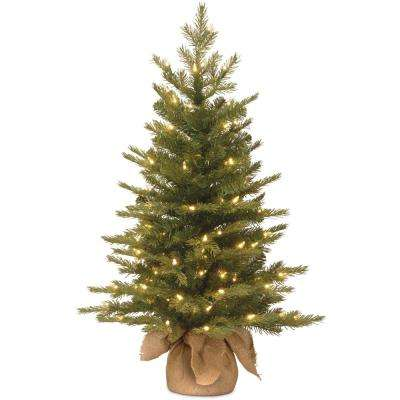 36 in. Feel-Real Nordic Spruce Tree with Clear Lights